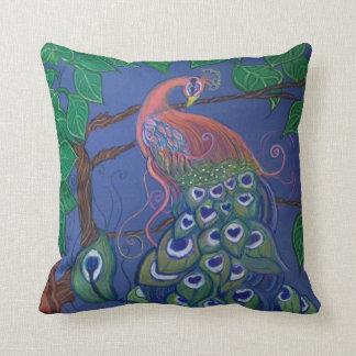 Peacock Art Throw Pillow