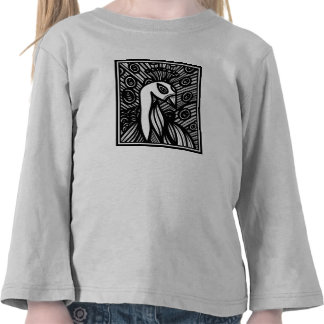 Peacock Artwork Drawing Shirts