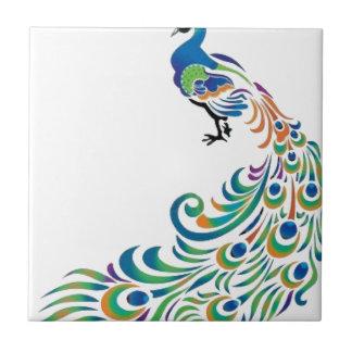 Peacock Azulejo Cuadrado Pequeño