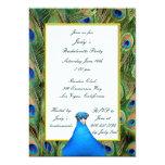 Peacock Bachelorette Party Invitation