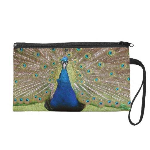 Peacock Bag Wristlet Clutch