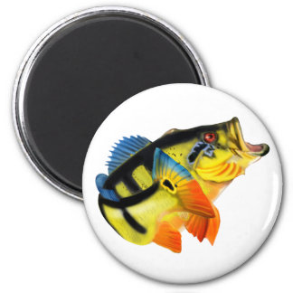 Peacock Bass 3 2 Inch Round Magnet