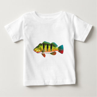 Peacock Bass bright Ocean Gamefish illustration Baby T-Shirt