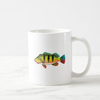 Peacock Bass bright Ocean Gamefish illustration Coffee Mug