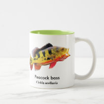Peacock bass Two-Tone coffee mug