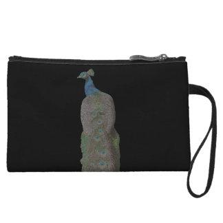 Peacock bead design wristlet wallet