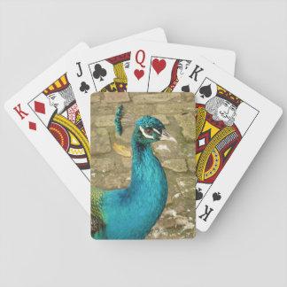 Peacock Beautiful Blue Bird Nature Photography Playing Cards
