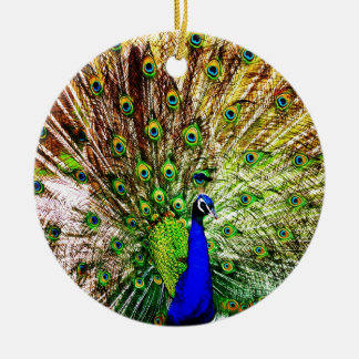 Peacock Beautiful Green Bird Animal Royal Luxury S Ceramic Ornament