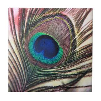 Peacock Beautiful Green Bird Animal Royal Luxury Tile