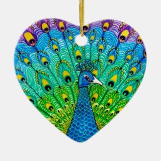 Peacock bird animation ceramic ornament