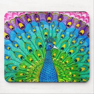 Peacock bird animation mouse pad