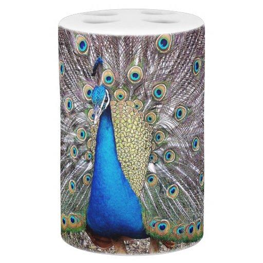 peacock bird bath set zazzle