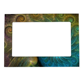 Peacock Bird Bright Colors Magnetic Frame