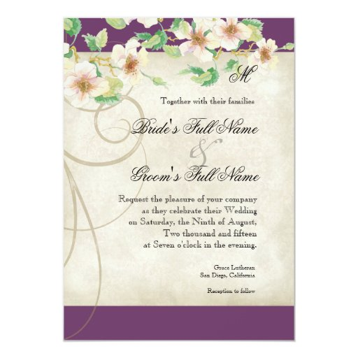Peacock Bird Cage - Wedding Invitation