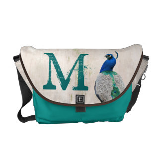Peacock Bird Feather Teal Turquoise Bag Tote Purse Courier Bags