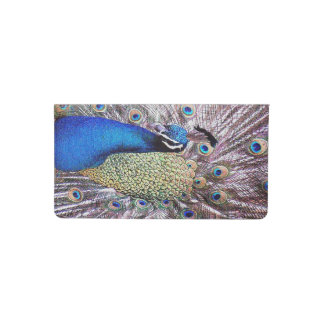 Peacock Bird Feathers Animal Checkbook Cover