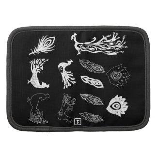 Peacock/bird feathers drawing – chalkboard look planner