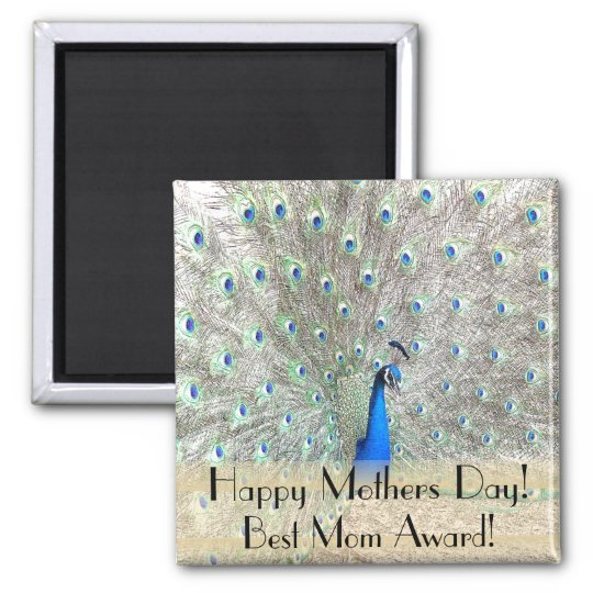 Peacock Bird Feathers Wildlife Animal Mothers Day Magnet
