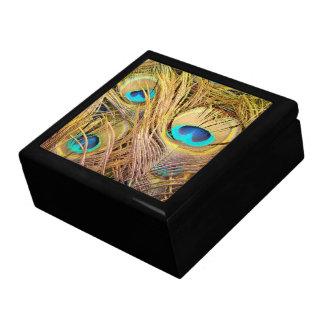 Peacock Bird Feathers Wildlife Animals Keepsake Box