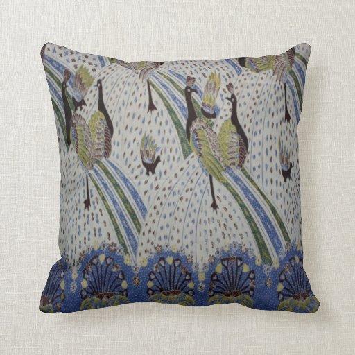 Peacock Bird Pattern Throw Pillow Zazzle