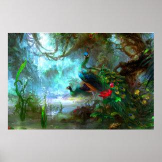 Peacock Bird Photo Nature Wall Poster