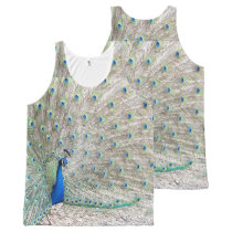 Peacock Bird Wildlife Animal Feathers All-Over-Print Tank Top