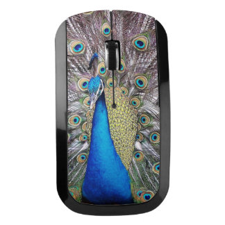 Peacock Bird Wildlife Animal Feathers Wireless Mouse