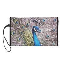 Peacock Bird Wildlife Animal Feathers Wristlet Purse