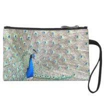 Peacock Bird Wildlife Animals Feather Purse Bag