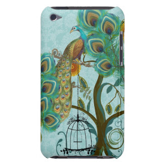 Peacock Birdcage Chandelier Damask iTouch Case