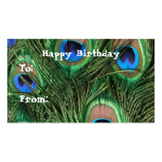 Peacock Birthday Gift Tags Business Card