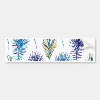 Peacock blue and violet feathers bumper sticker