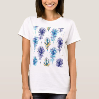 Peacock blue and violet feathers T-Shirt
