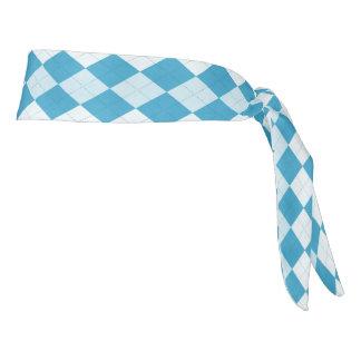 Peacock Blue Argyle Diamond Tie Headband
