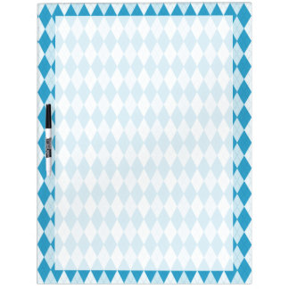 Peacock Blue Argyle Small Diamond Shape Dry-Erase Board
