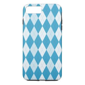 Peacock Blue Argyle Small Diamond Shape iPhone 8 Plus/7 Plus Case