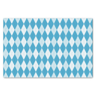 Peacock Blue Argyle Small Diamond Shape Tissue Paper