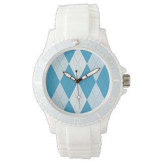 Peacock Blue Argyle Small Diamond Shape Watch