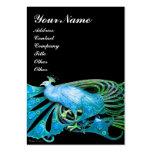 PEACOCK blue black Business Card