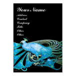 PEACOCK blue black Large Business Cards (Pack Of 100)
