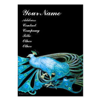 PEACOCK blue black Large Business Card