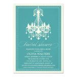 PEACOCK BLUE CHANDELIER | BRIDAL SHOWER INVITATION