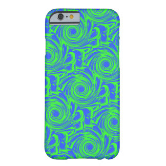 Peacock blue green pattern barely there iPhone 6 case
