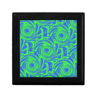 Peacock blue green pattern gift box