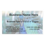 Peacock blue head on image business card template