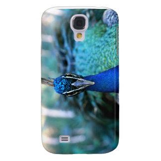 Peacock blue head on image samsung galaxy s4 case