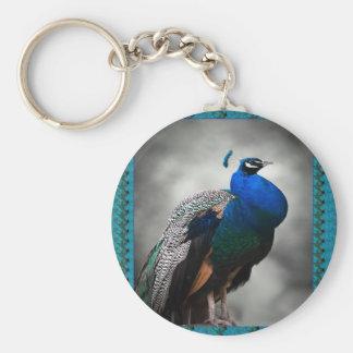 Peacock Blue Keychain