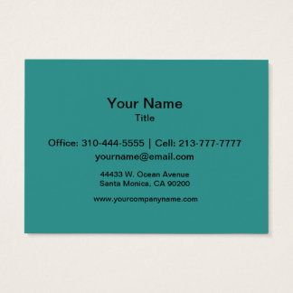 Peacock Blue Solid Color Business Card