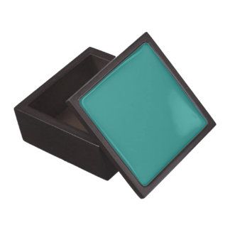 Peacock Blue Solid Color Gift Box
