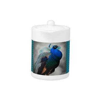 Peacock Blue Teapot